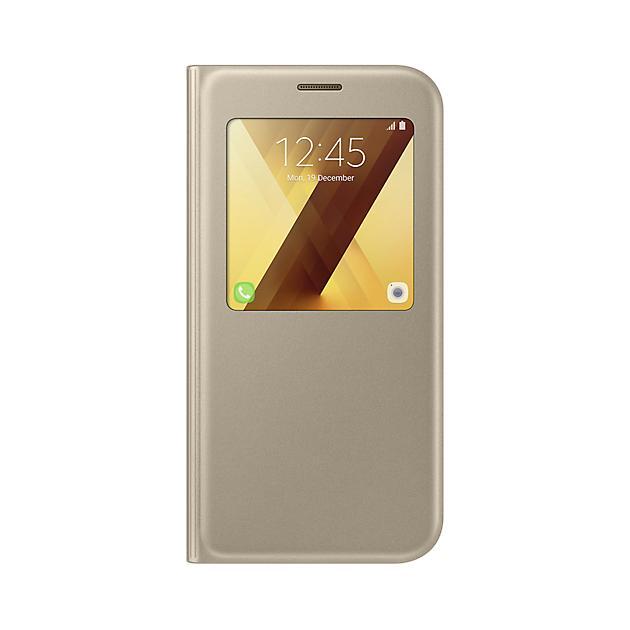 Купить со скидкой Samsung S View Standing Cover для Samsung Galaxy A7 2017 Золотой