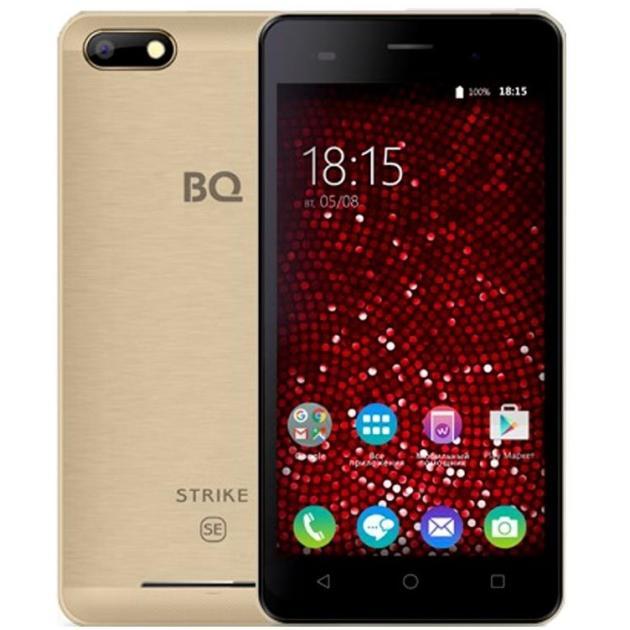 Смартфон BQ-Mobile BQ 5020 Strike SE 16Гб, Золотистый bq mobile bq bqs 5020 strike 8гб розовый dual sim 3g