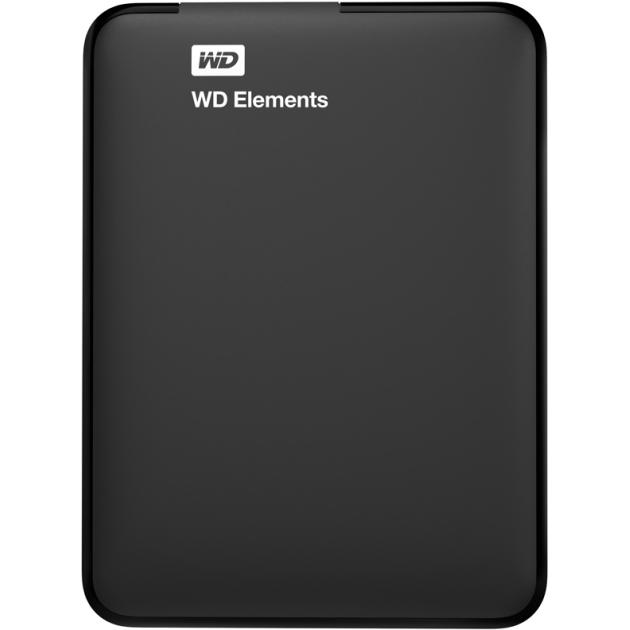 Внешний жесткий диск Western Digital Elements Portable 1Tb WDBUZG0010BBK-WESN 1 Тб, Черный 2 5 usb3 0 1 tb western digital elements portable wdbuzg0010bbk eesn
