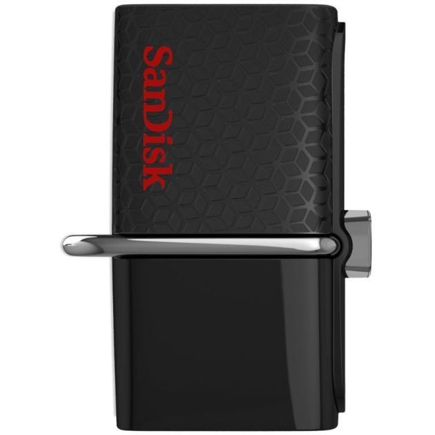 Флешка Sandisk Ultra Dual 64Гб, Черный, USB 3.0/microUSB