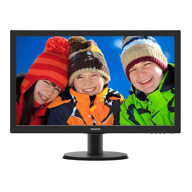 "Philips 243V5LHAB5 Встроенные колонки, VGA, 23.6"", Черный, DVI, HDMI, Full HD"