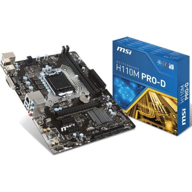 все цены на  Материнская плата MSI H110M PRO-D mATX  онлайн