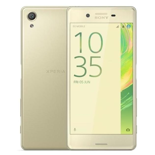 Смартфон Sony Xperia X Dual 64Гб, Золотой, Dual SIM смартфон sony xperia x dual white android 6 0 marshmallow msm8956 1800mhz 5 0 1920x1080 3072mb 64gb 4g lte [f5122 white]