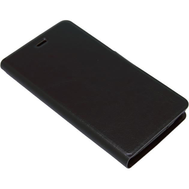 где купить Чехол Micromax Чехол-книжка Micromax Q4202 Черный дешево