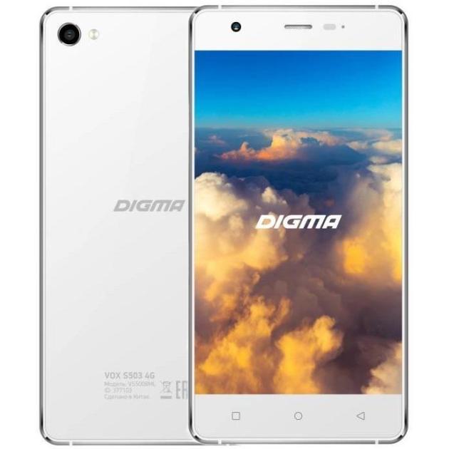 Смартфон Digma Vox S503 16Гб, Белый, Dual SIM, 4G LTE, 3G digma linx a420 3g 4гб белый dual sim 3g