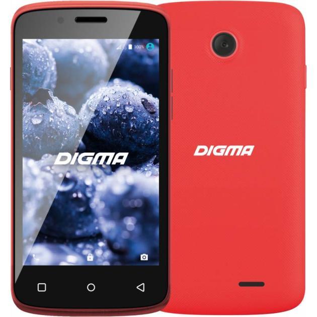 Смартфон Digma VOX A10 3G Красный digma linx a420 3g 4гб белый dual sim 3g