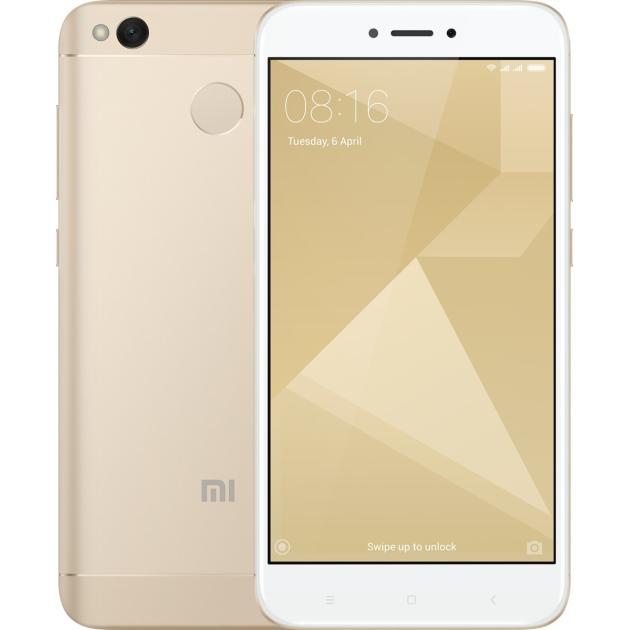 Смартфон Xiaomi Redmi 4X 16Gb Золотой сотовый телефон xiaomi redmi 4x 16gb pink