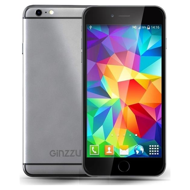 Смартфон Ginzzu S4720 8Гб, Серый, Dual SIM, 3G micromax q392 8гб серый dual sim 3g