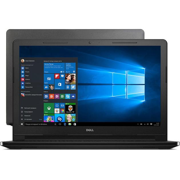 "Dell Inspiron 3552 15.6"", Intel Pentium, 1600МГц, 4Гб RAM, 500Гб, Черный, Windows 10"