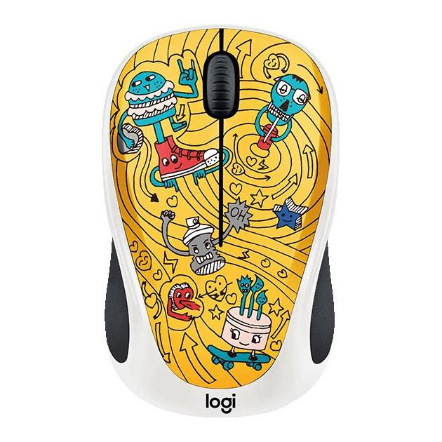 Logitech Wireless Mouse M238 Doodle Collection GoGo Gold