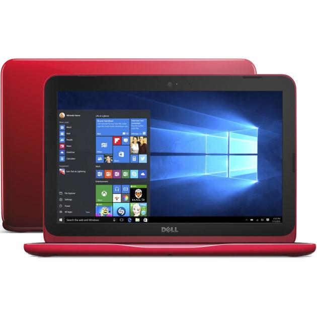 Dell Inspiron 3162 Intel Celeron, 1600МГц, 2Гб RAM, 32Гб, Красный, Windows 10
