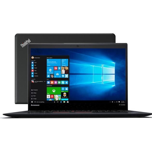 Ноутбук Lenovo ThinkPad x1 Carbon 14, Intel Core i7, 2700МГц, 8Гб RAM, 256Гб, Черный, Windows 10 Домашняя ноутбук lenovo thinkpad x1 carbon 14 intel core i5 2500мгц 8гб ram 256гб черный windows 10 домашняя