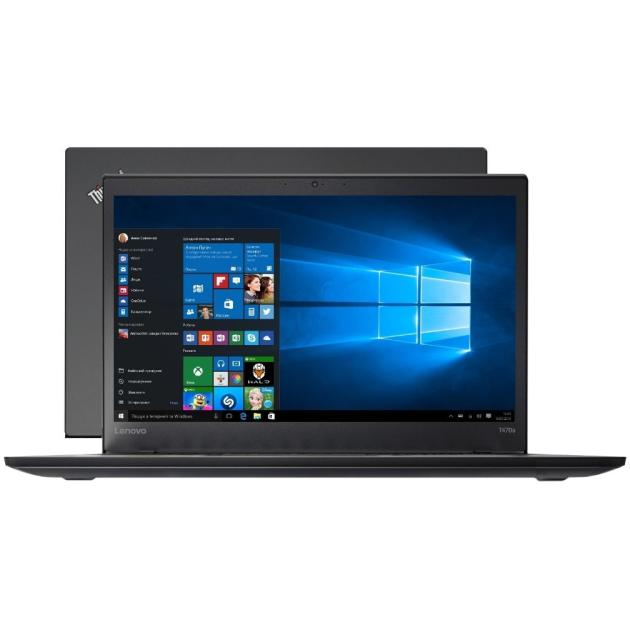 Ноутбук Lenovo ThinkPad T470 14, Intel Core i5, 2500МГц, 8Гб RAM, 1000Гб, Черный, Windows 10 Pro ноутбук lenovo thinkpad x1 carbon 14 intel core i5 2500мгц 8гб ram 256гб черный windows 10 домашняя