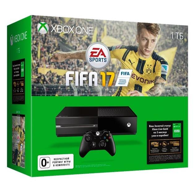 Консоль Microsoft Xbox One 1 ТБ + FIFA 17 + 3 мес. Xbox Live Gold