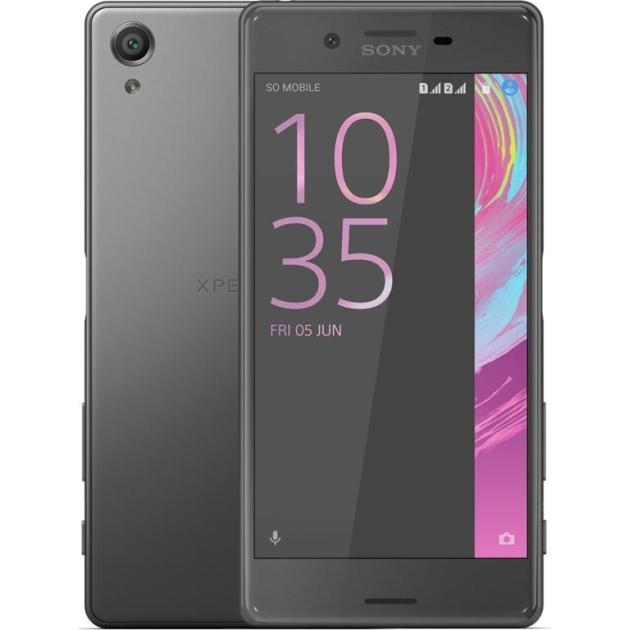 Смартфон Sony Xperia X Dual Черный, 64Гб, 2 SIM, 4G LTE, 3G смартфон sony xperia x compact white android 6 0 marshmallow msm8956 1800mhz 4 6 1280x720 3072mb 32gb 4g lte [f5321white]