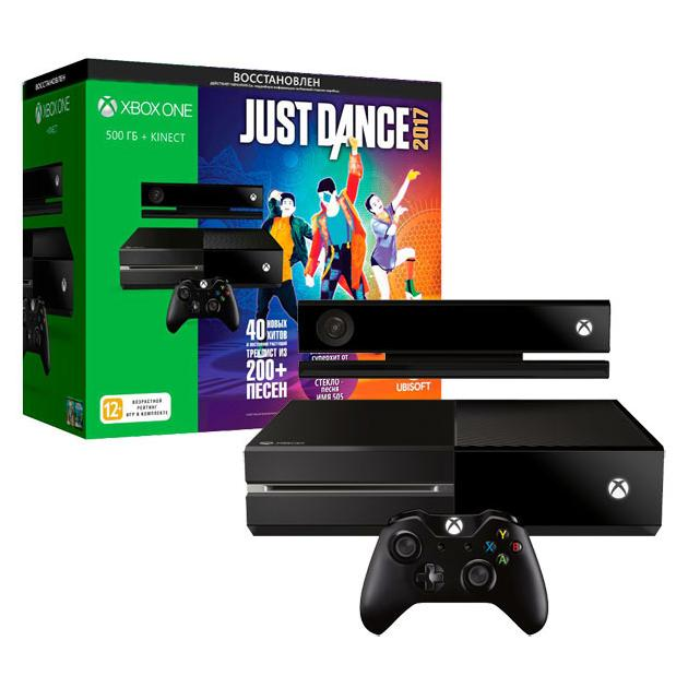 Консоль Microsoft Xbox One Восстановленная 500 Гб Kinect + Just Dance 2017 ravensburger маки тосканы пазл триптих 1000 элементов
