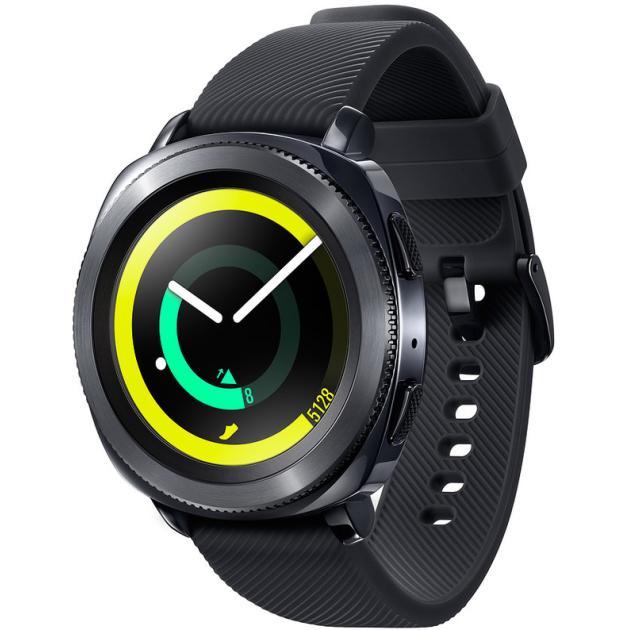 Умный часы и браслет Samsung Gear Sport Черный смарт часы samsung gear sport 4 гб синий
