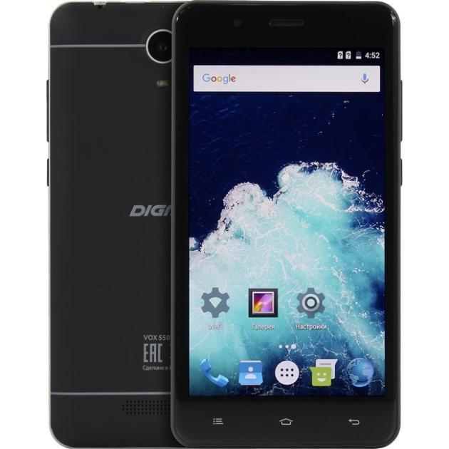 Смартфон Digma Vox S507 4G 8Гб, Черный, Dual SIM, 4G LTE, 3G digma linx a420 3g 4гб белый dual sim 3g