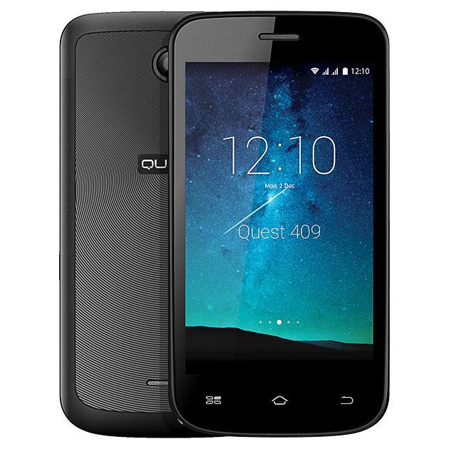 Смартфон Qumo Quest 409 0.512Гб, Черный, Dual SIM, 3G смартфон ginzzu rs93d 8гб черный dual sim 3g