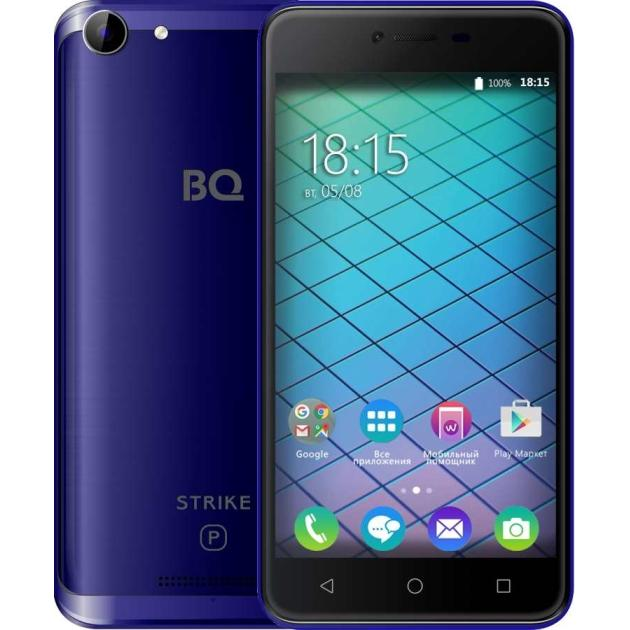 Смартфон BQ-Mobile BQ 5059 Strike Power Синий смартфон bq mobile strike power gold brushed bq 5059