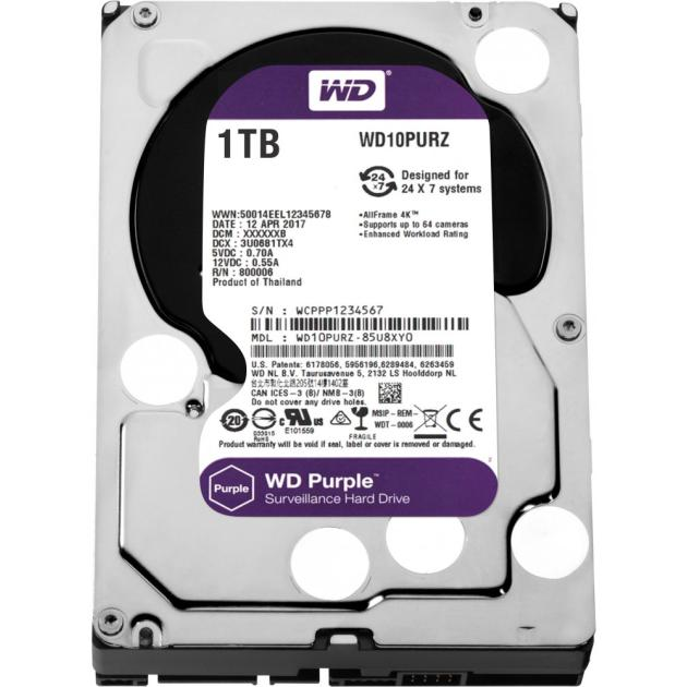 Western Digital Purple 1000Гб