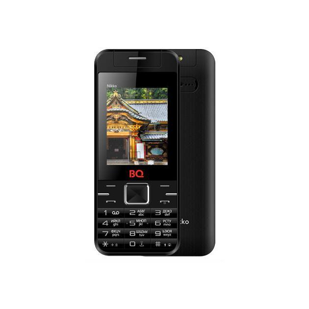 Мобильный телефон BQ-Mobile BQ BQM-2424 Nikko Черный bq bq bqm 2802 kyoto черный 0 032гб 2 sim