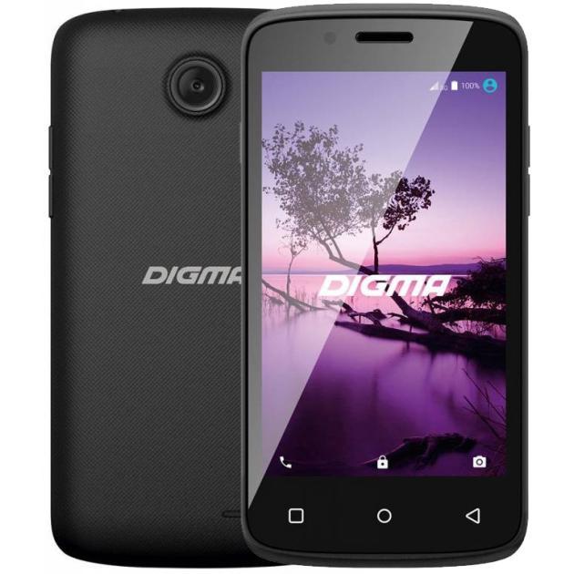 все цены на  Смартфон Digma LINX A420 3G 4Гб, Черный, Dual SIM, 3G  онлайн