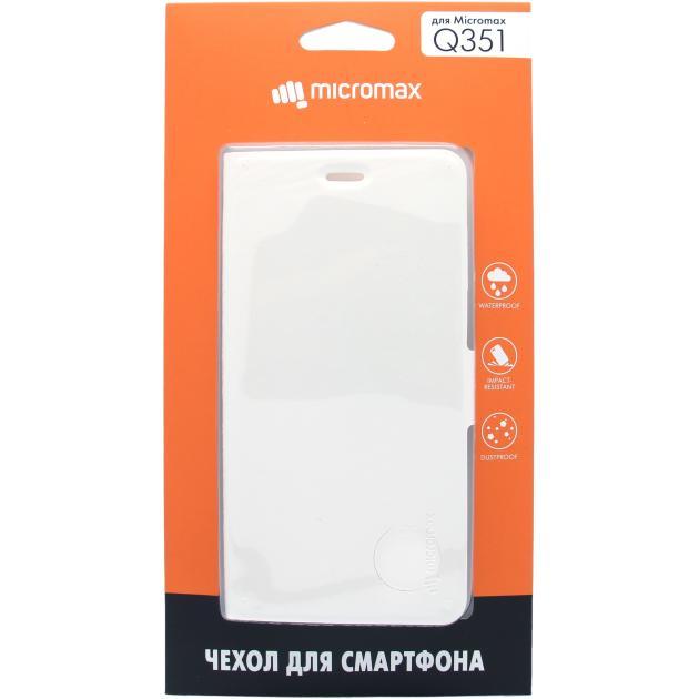 Чехол-книжка Micromax Q351 Белый