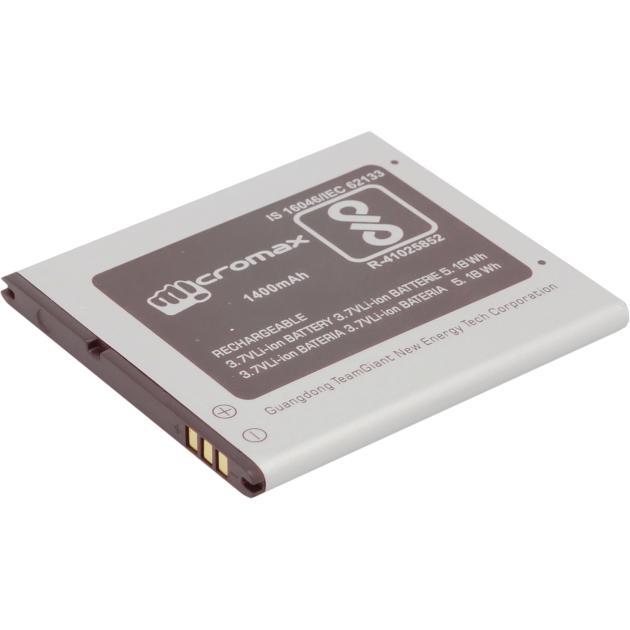 Аккумуляторная батарея для модели Micromax Q326 Черный, 1400мАч