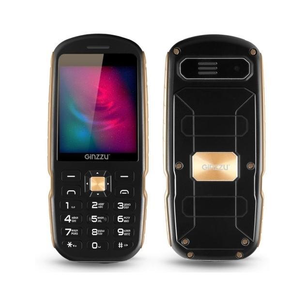 Мобильный телефон Ginzzu R1D Черный мобильный телефон ginzzu r1d золотой