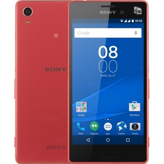 Смартфон Sony Xperia M4 Aqua Dual E2333 LTE 16Гб, Коралловый смартфон sony xperia x compact white android 6 0 marshmallow msm8956 1800mhz 4 6 1280x720 3072mb 32gb 4g lte [f5321white]