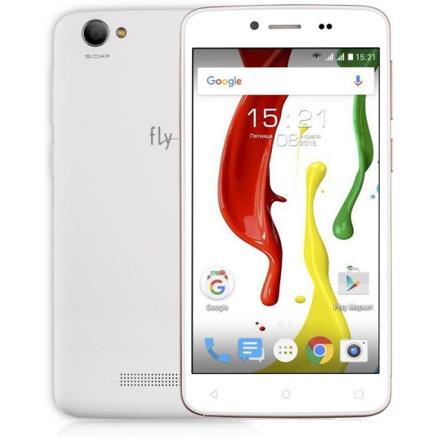 Смартфон Fly FS505 Nimbus 7 Белый смартфон fly nimbus 7 fs505 зеленый черный