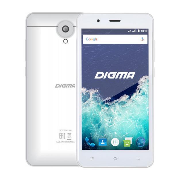 Смартфон Digma Vox S507 4G 8Гб, Белый, Dual SIM, 4G LTE, 3G сотовый телефон digma vox s507 4g white