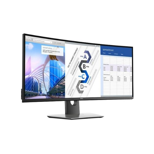 Монитор Dell UltraSharp U3417W 34, Черный, HDMI, Full HD