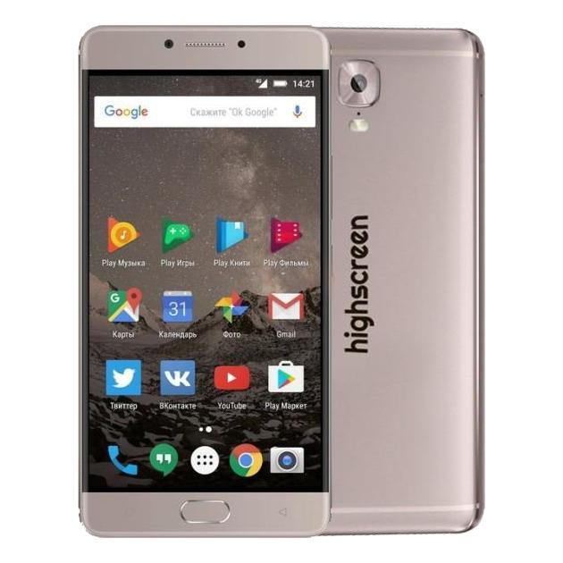 Смартфон Highscreen Power Five Max 64Гб, Медный, Dual SIM, 4G LTE, 3G highscreen highscreen 4 usb