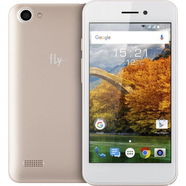 Смартфон Fly FS459 Nimbus 16 Золотой смартфон fly fs454 nimbus 8 white