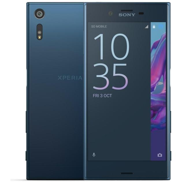 Смартфон Sony Xperia XZ Dual 64Гб, Синий, Dual SIM смартфон sony xperia x dual white android 6 0 marshmallow msm8956 1800mhz 5 0 1920x1080 3072mb 64gb 4g lte [f5122 white]