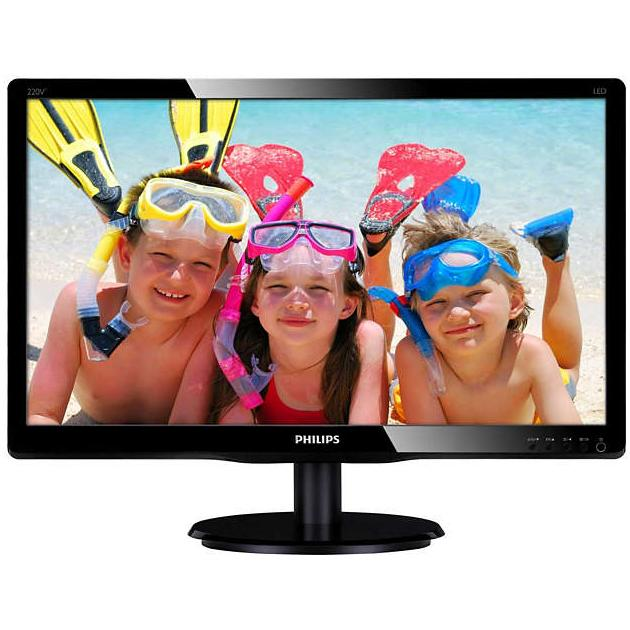 "Philips 220V4LSB 22"", черный, DVI"