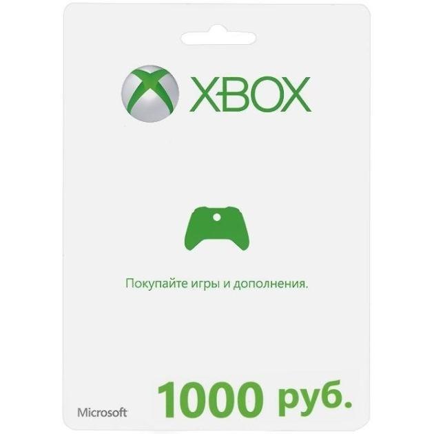 Xbox Live Microsoft Xbox LIVE: карта оплаты на 1000 рублей, цифровой код playstation network card 1000 карта оплаты 1000 рублей