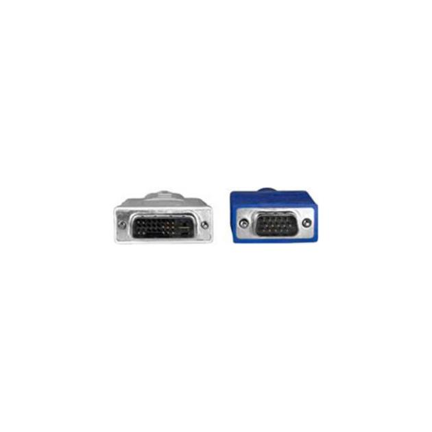 Кабель Hama H-45075-адаптер VGA-DVI аналоговый m-m 1.8 м High Quality серый