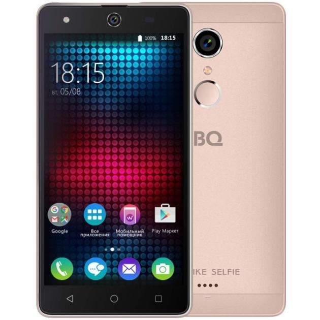 Смартфон BQ-Mobile BQ BQS-5050 Strike Selfie Розовый bq mobile bq bqs 5020 strike 8гб розовый dual sim 3g