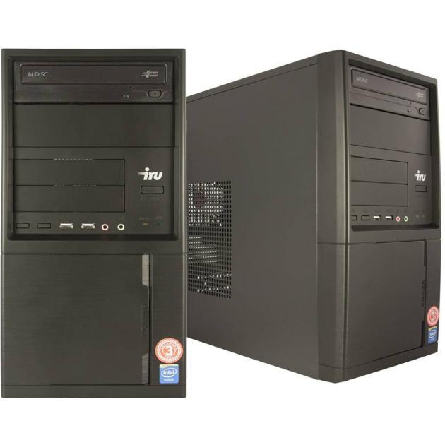 Системный блок IRU Office 311 MT Intel Core i3, 3700МГц, 4Гб , 120Гб, DOS, черный пк iru ws 717 mt 392434