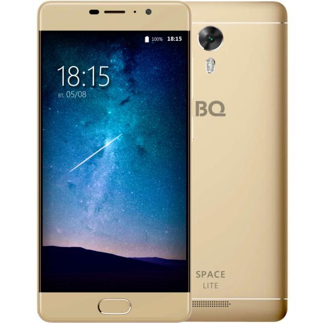 Смартфон BQ-Mobile BQ-5202 Space Lite Золотой смартфон bq mobile bq 5202 space lite золотой