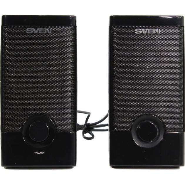 Sven 318 Черный, 2.0, mini jack, Пластик