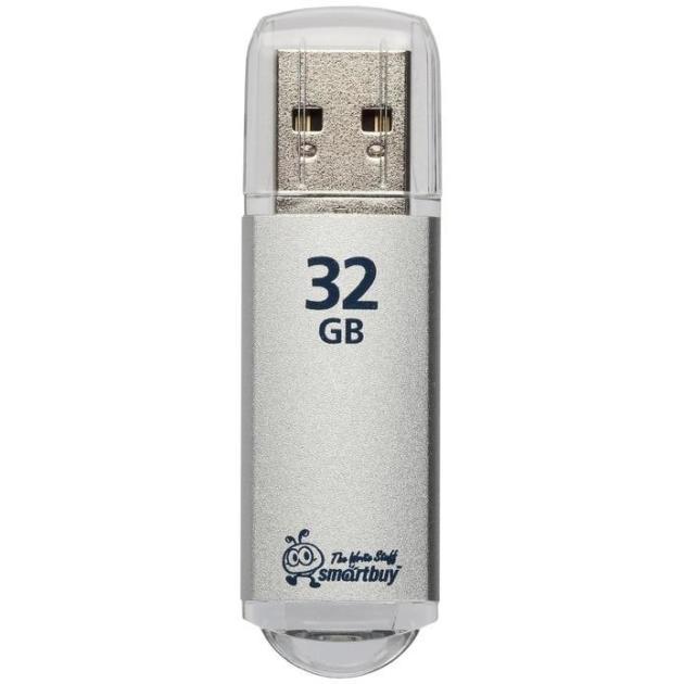 Флешка Smartbuy Smart Buy V-Cut 32Гб, Серебристый  цена