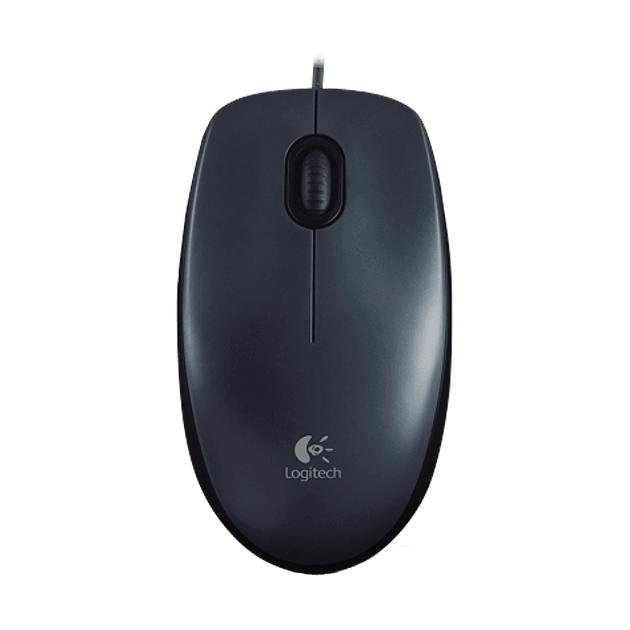 Logitech M100 Темно-серый, USB