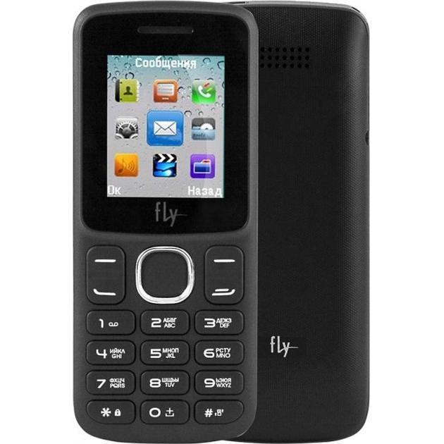 Мобильный телефон Fly FF180 Черный мобильный телефон fly ff281 черный 2 8 32 гб