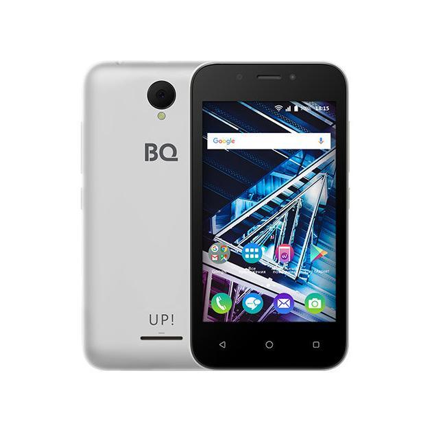 Смартфон BQ-Mobile BQ Mobile BQ-4028 UP! Серебристый стойка metaldesign md 552 planima черный дымчатое стекло