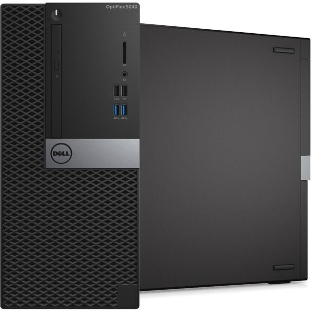 Системный блок Dell Optiplex 5040-9976 MT, 3400МГц, 8Гб, Intel Core i7, 500Гб, Win7 Pro64 компьютер dell optiplex 5050 intel core i3 7100t ddr4 4гб 128гб ssd intel hd graphics 630 linux черный [5050 8208]