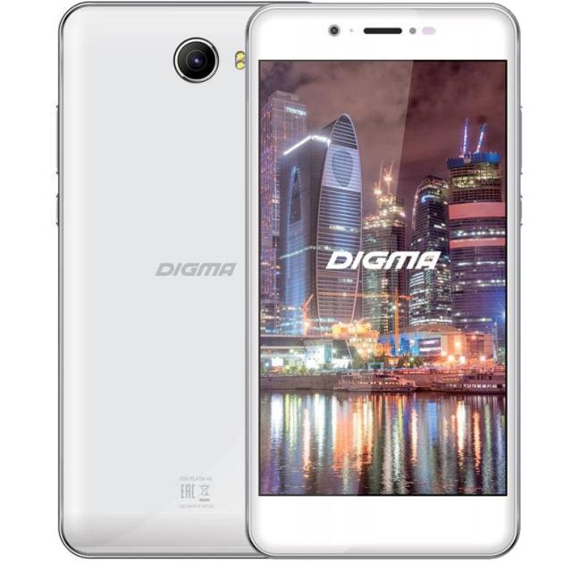 Смартфон Digma VOX Flash 4G Белый digma vox s502 3g